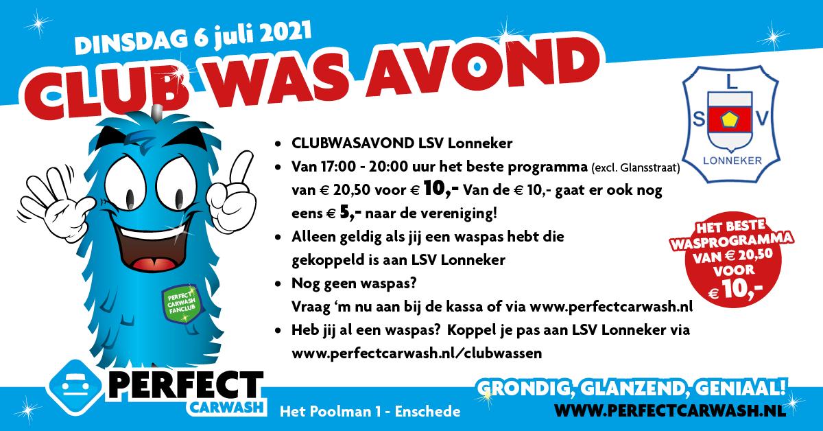 Actie: Clubwasavond LSV x PerfectCarwash